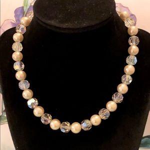 Vintage Pearl & Crystal Choker